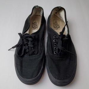 Vans Black Canvas Lace Up Sneakers